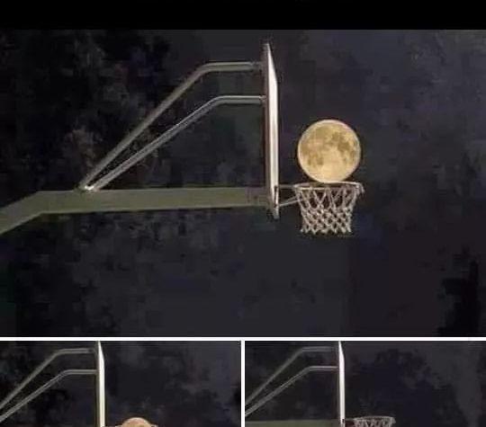 La luna nel canestro!