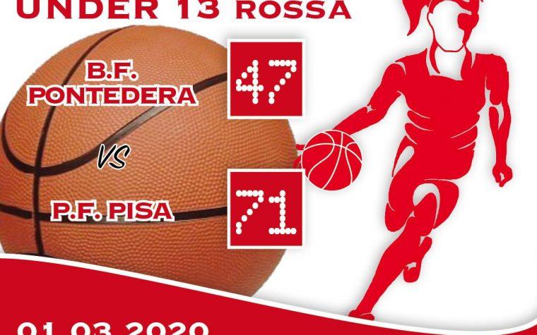 Under 13: BF Pontedera – PFPi Rossa